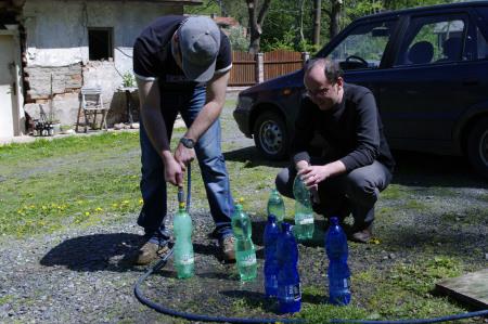 Příprava vody na pozdější chlazení mladiny