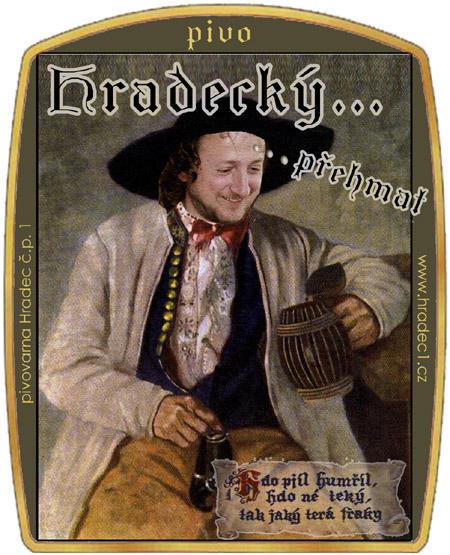 Etiketa Hradeckého přehmatu, verze pivovarník.