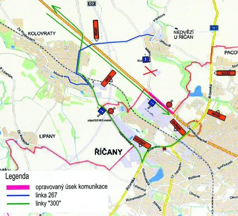 Náhled objízdné trasy 1. etapy