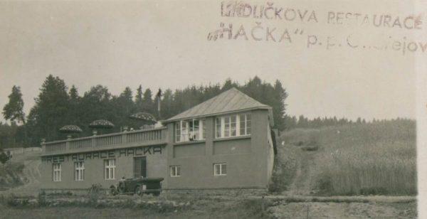 Pohlednice s Hrdličkovou restaurací