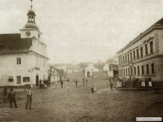 Stříbrnoskalické náměstí okolo roku 1900