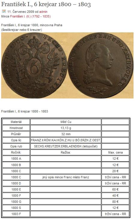 popis mince