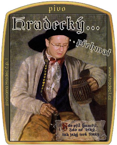 Etiketa Hradeckého přehmatu, verze sládek.