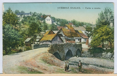 Most na kolorované pohlednici z konce 19. století.
